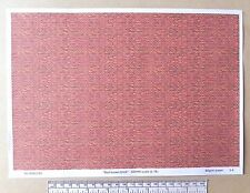 "OO/HO gauge (1:76 scale) ""red-brown brick""  paper - A4 sheet"