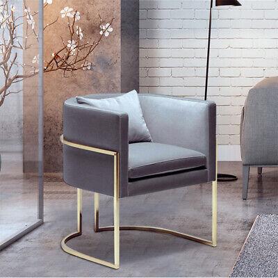 Grey Pink Dinig Room Chair Velvet Seat