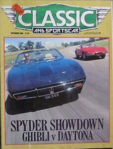 Classic-Sportscar-Sep-1986-Maserati-Ferrari-MG-Rover-Lotus-Datsun-Zephyr