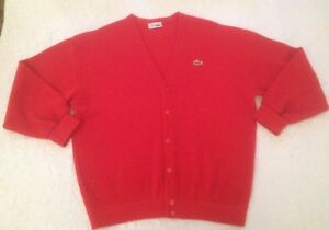 5c13717a86 Pull En Pure Laine Vierge LACOSTE. Taille 6/XL. Rouge. | eBay