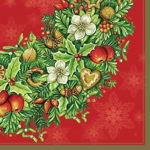 Christmas  20 Paper Lunch Napkins Winter Branches Decoupage SDL017300