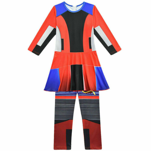 UK Girls Descendants 3 Mal Audrey Evie Party Birthday Halloween Costume Jumpsuit