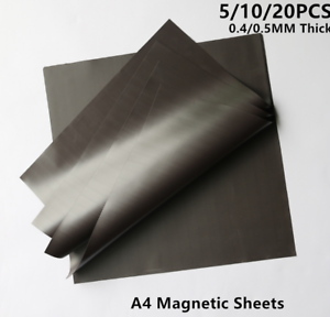 0.4//0.5mm Thick Magnetic Sheets for Crafts /& Spellbinder Die Storage 5-20PCS A4