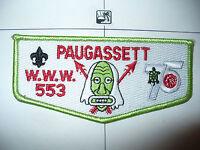 553 Paugassett S-11,1915 1990,75th Ann OA Indian Mask Flap,Housatonic Council,CT