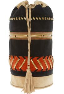 Alberta Black Backpack Zaino Bag Ferretti Suede £745 Rrp Genuine RqwSpdp 4a9207f24e6