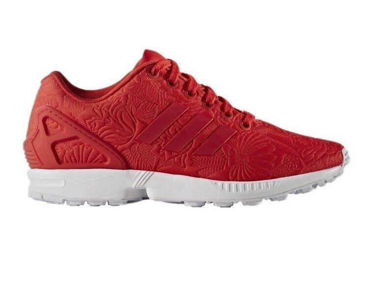 Adidas ZX Flux (S76589) - Rouge Vif Puff Imprimé Fleur Graphique Femme Baskets-