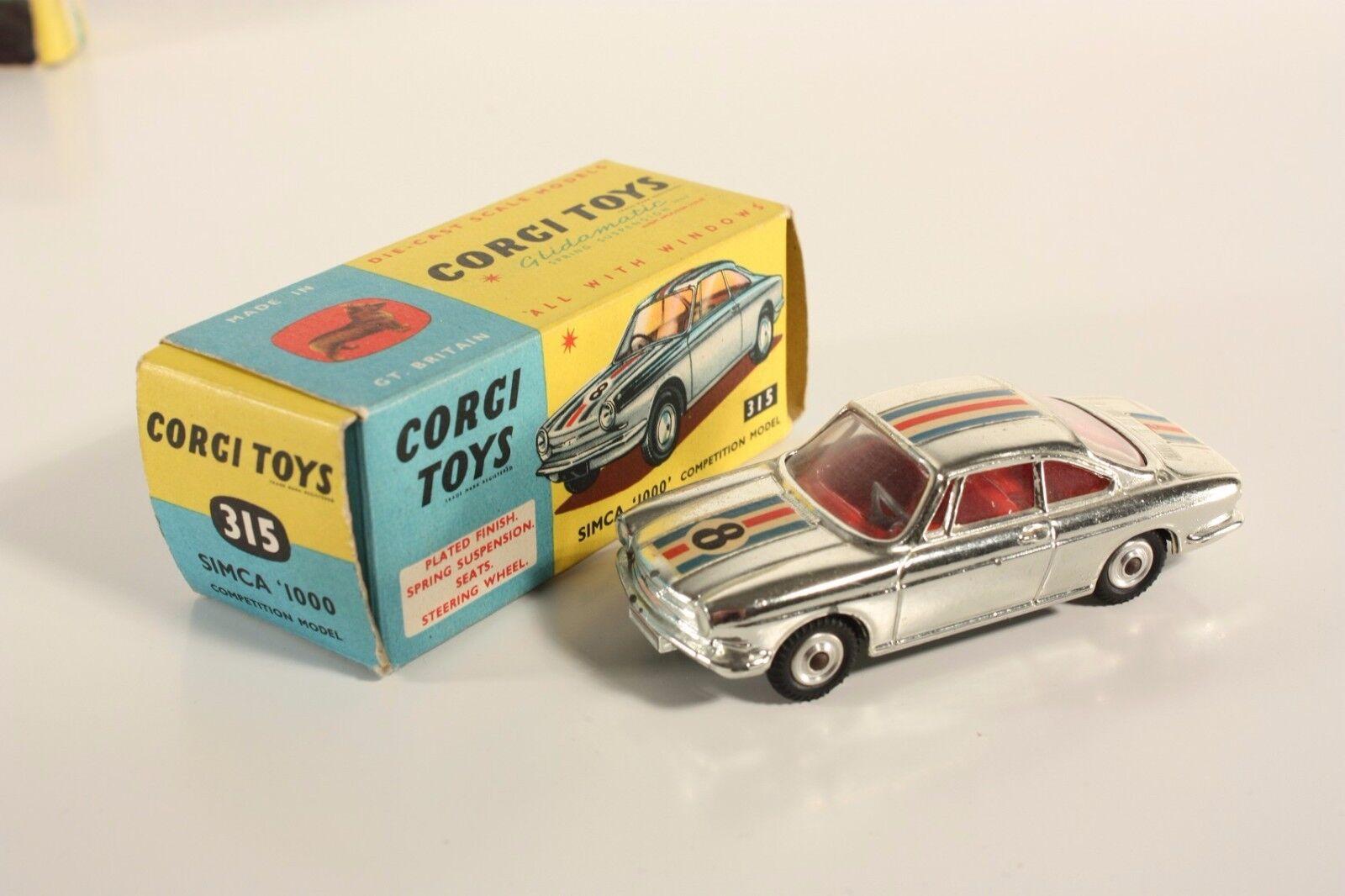 Corgi Toys 315, Simca 1000 Competiton Model, Mint in Box         ab2030
