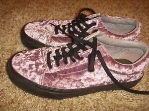 VANS Old Skool Velvet Sea Fog (Purple) Black Skateboarding Shoes ... 784851426