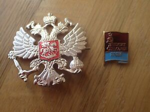 Russian-USSR-Military-Communist-Party-Badge-amp-Imperial-Army-Hat-Badges
