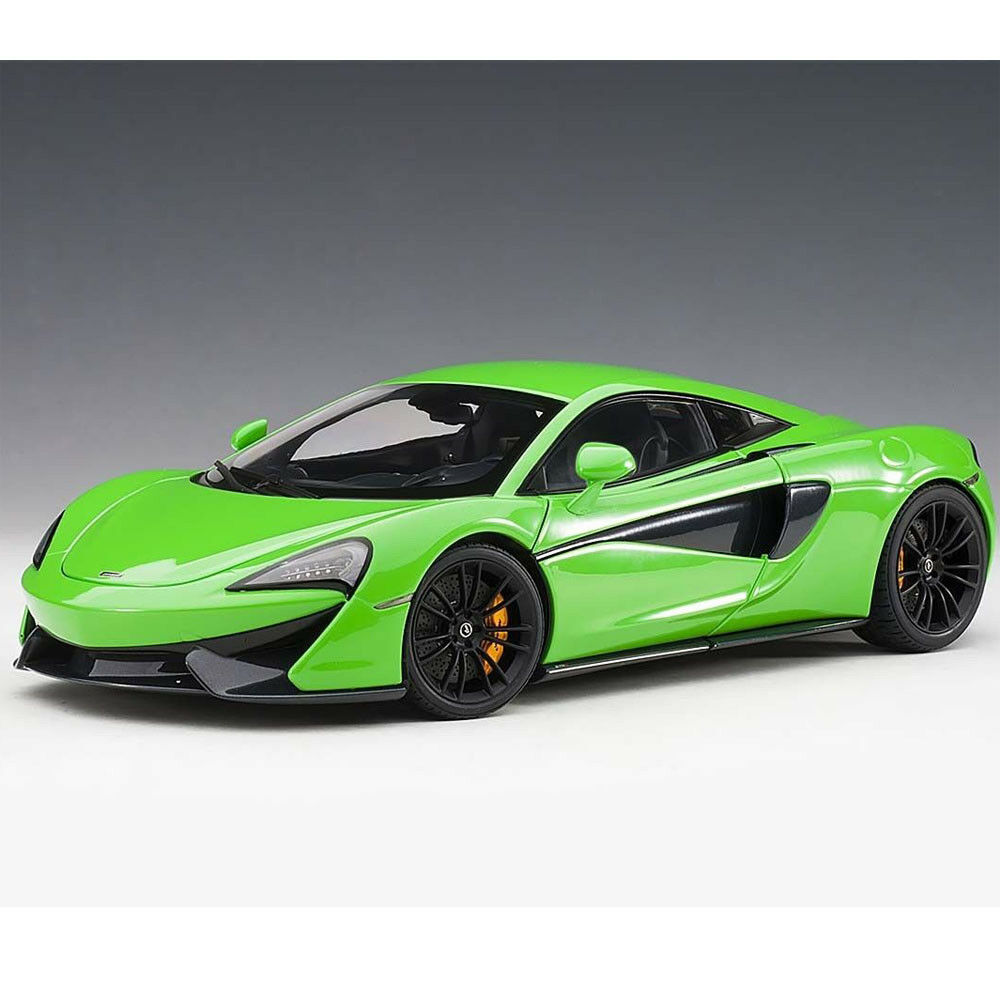 Autoart MCLAREN 570S 1 18 modellololo auto uomotide verde CON RUOTE NERO 76042