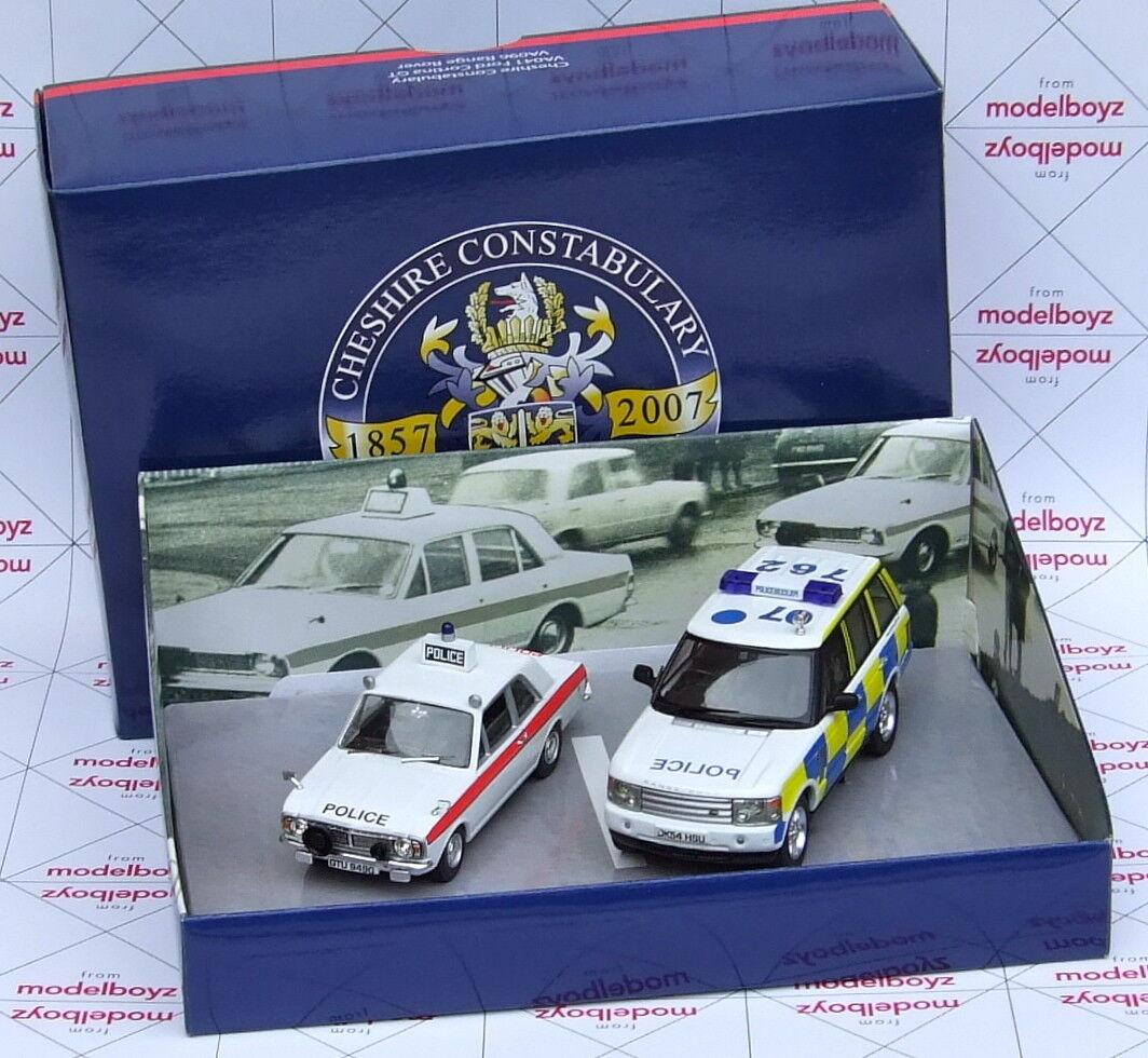 Corgi VANGUARDS Cheshire Constabulary VA041 Ford Cortina GT & VA096 Range Rover