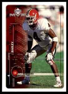 1999 Upper Deck MVP Champ Bailey HOF ROOKIE Georgia Bulldogs / Redskins Broncos