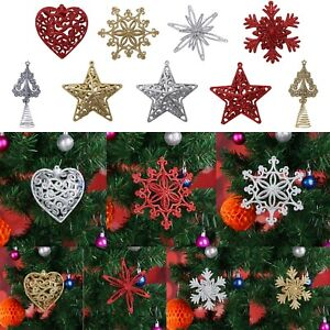 Glitter-3D-Snowflake-Star-Heart-Christmas-Ornaments-Xmas-Tree-Hanging-Decoration