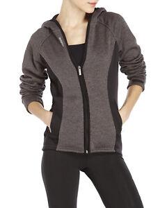 64cde81a1 Reebok Women's Black Gray Full Zip Slim Trailblazer Hoodie Jacket ...