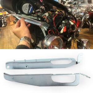 Motorrad-Chrom-Innere-Verkleidung-Halterung-Klammer-fuer-Harley-Touring-FLHT-FLHX