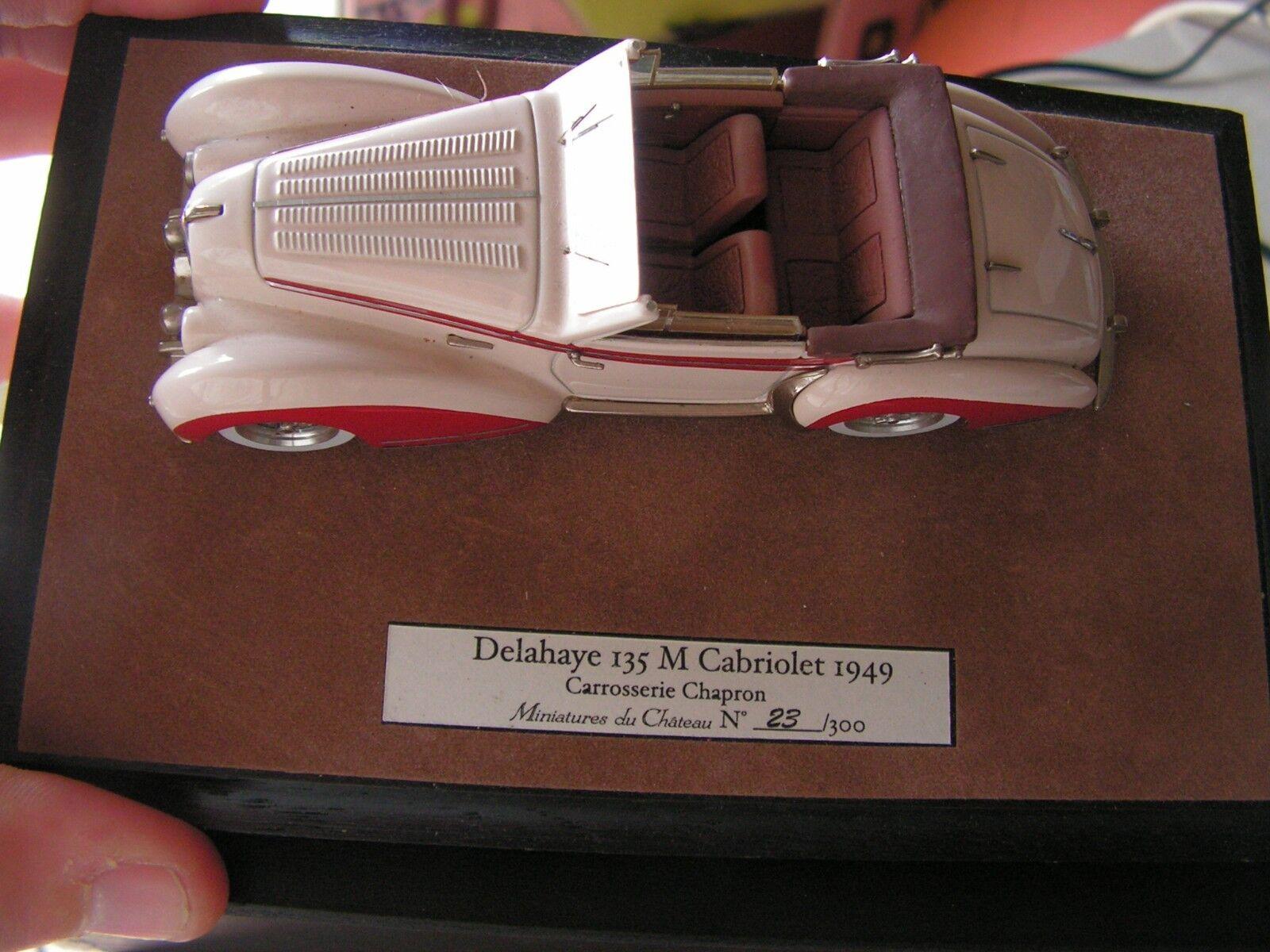ventas en linea MINIATURES du CHATEAU- CHATEAU- CHATEAU- delahaye 135M cabriolet 1949 numerojoe en boite  1 43  (f)  calidad auténtica