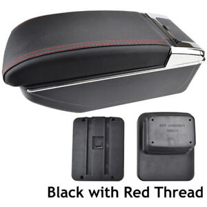 Red-Line-Dual-layer-Leather-Storage-Box-Armrest-Console-Center-For-CX-3-15-18
