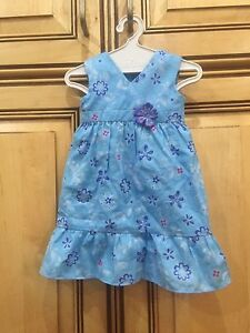 American-Girl-Doll-2011-Kanani-Retired-Meet-Outfit-Blue-Floral-Dress-ONLY