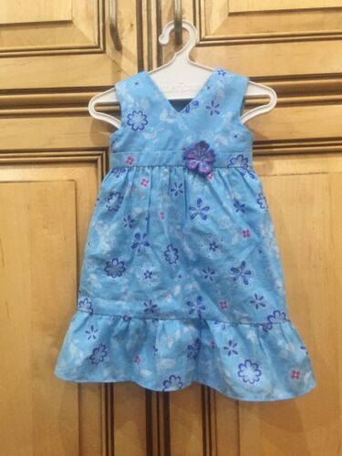 American Girl Doll 2011 Kanani Retired Meet Outfit Blue Floral Dress ONLY