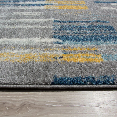 Boxing Day Jan Sales Teal Blue Ochre Yellow Living Room Rugs Soft Warm Rug