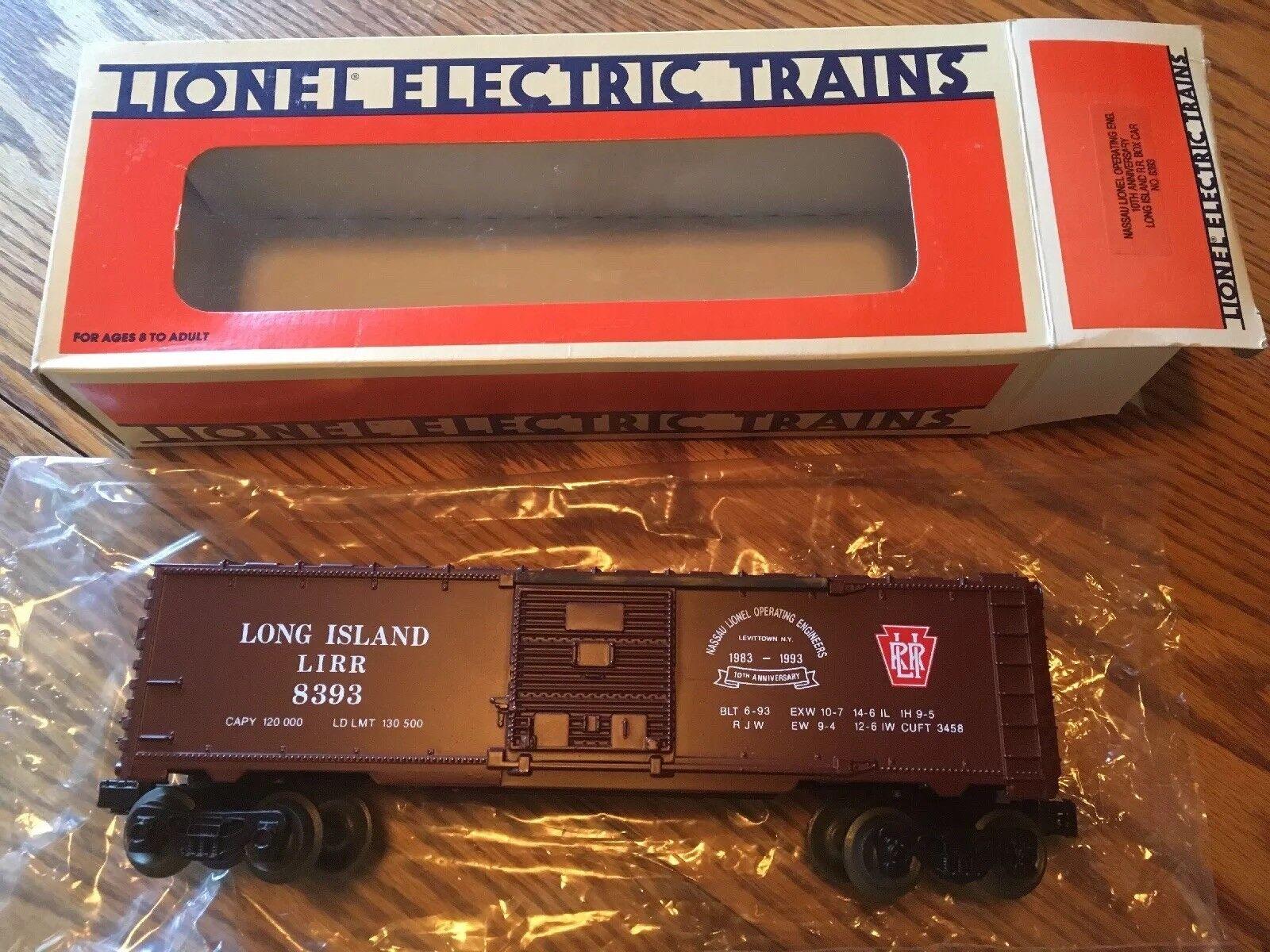 Lionel  52019 NLOE 10th Anniversary Long Island RR Boxcar 8393