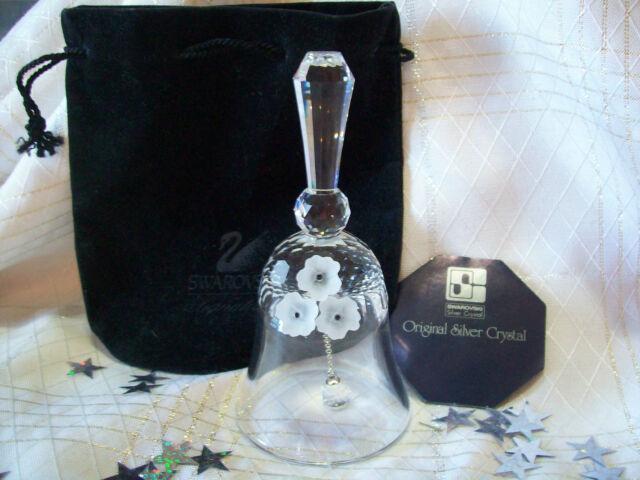 """Swarovski Silver Crystal VINTAGE """"Large DINNER TABLE BELL""""  COA MINT"""