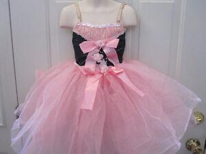 Dansco Pink Green Ballet Dance Pageant Costume Small Child SC