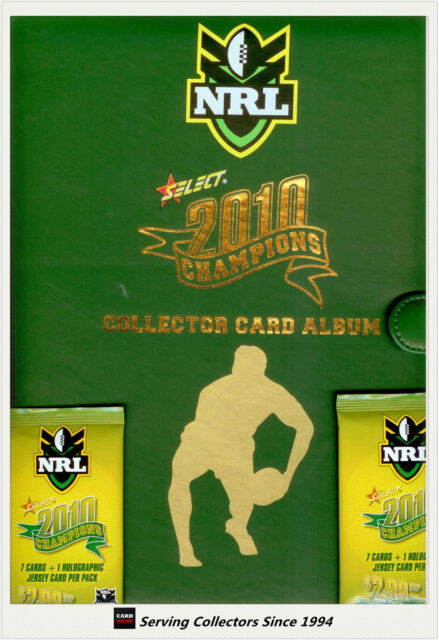 2010 Select NRL Champions Collectors Card Album (With pages+2 Free Pks)
