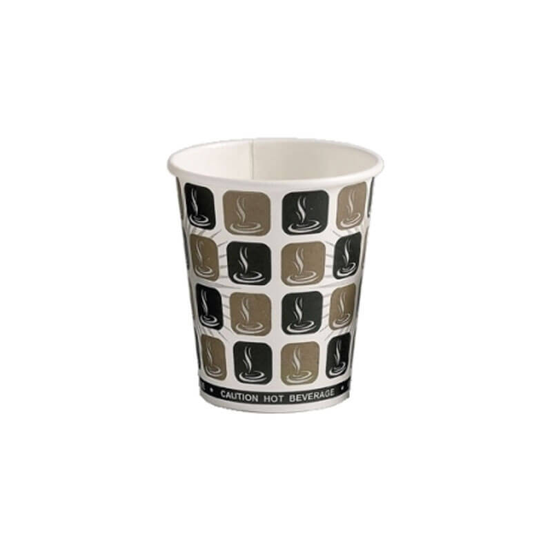 1000 x 10oz Mocha Cafe Coffee Cups Paper Single Wall Disposable