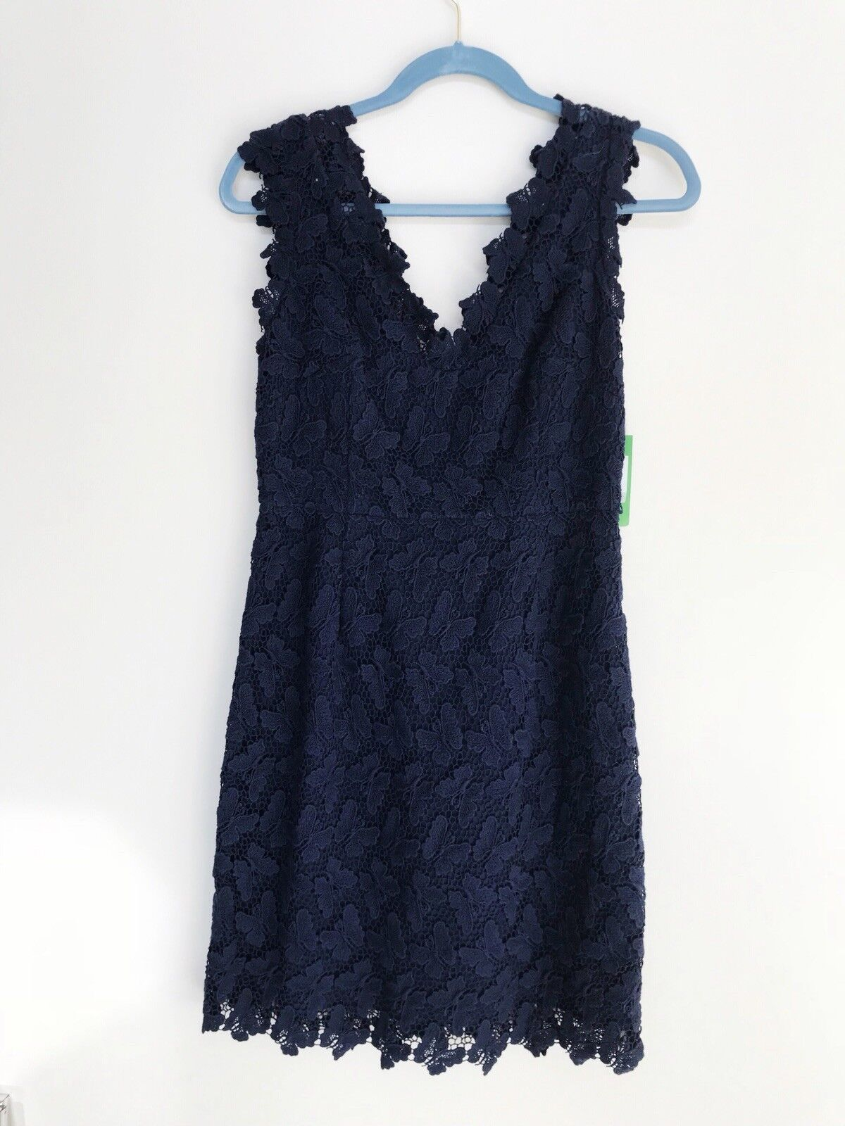 NWT Lilly Pulitzer Reeve Sleeveless Dress Papillon Lace Butterfly True Navy 4