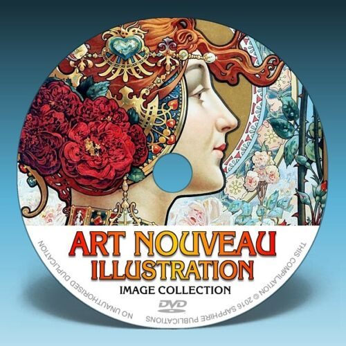 ART NOUVEAU ILLUSTRATION 100s of Paintings /& Drawings on DVD!