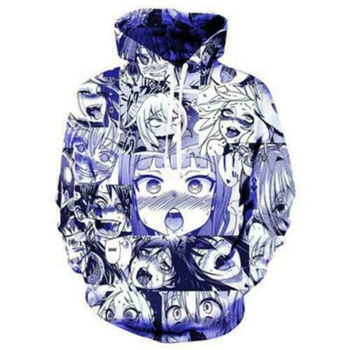 Hentai Ahegao 3D Anime Kapuzen Sweatshirt Kapuzenpulli pulli Hoodie T-Shirt