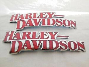 Harley-Davidson-Tankembleme-Tankschilder-Tank-Embleme-Chrom-14100709-amp-14100710