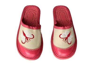 Kinder Hausschuhe Pantoffeln Eco Leder Gr. 17 (1-601)