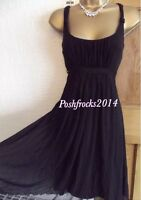 WALLIS ❤️ Gorgeous Size 12 Black dress wedding ball Floaty occasion Summer party