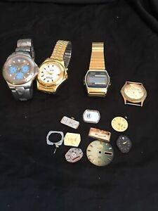 Herren-Armbanduhr-Teile-fuer-Reparatur-oder-Teile-Bullhead-Timex