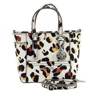 Details about Guess Women's Delaney Petite Classic Python Leopard Multi Tote Handbag