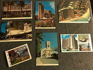 VTG-Hawaii-Waikiki-Memory-Book-Assorted-Postcard-Lot-Historic-Travel-Memorabilia