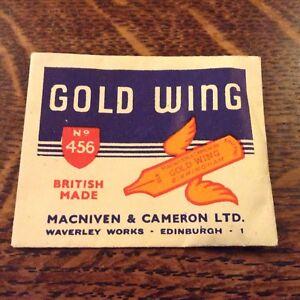 Vintage-039-Gold-Wing-039-Macniven-amp-Cameron-Sample-Nib-No-456-in-package-sealed