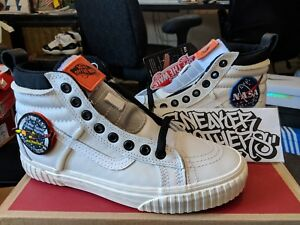 Details about Vans SK8-Hi x NASA Space Voyager 46 MTE DX True White Black Orange VN0A3DQ5UQ4