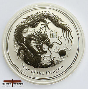 2012 Australian Year Of The Dragon 1 Ounce Silver Coin