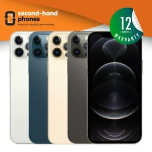 Apple iPhone 12 Pro Max 128/256/512GB Unlocked Pacific Blue,Silver,Graphite,Gold