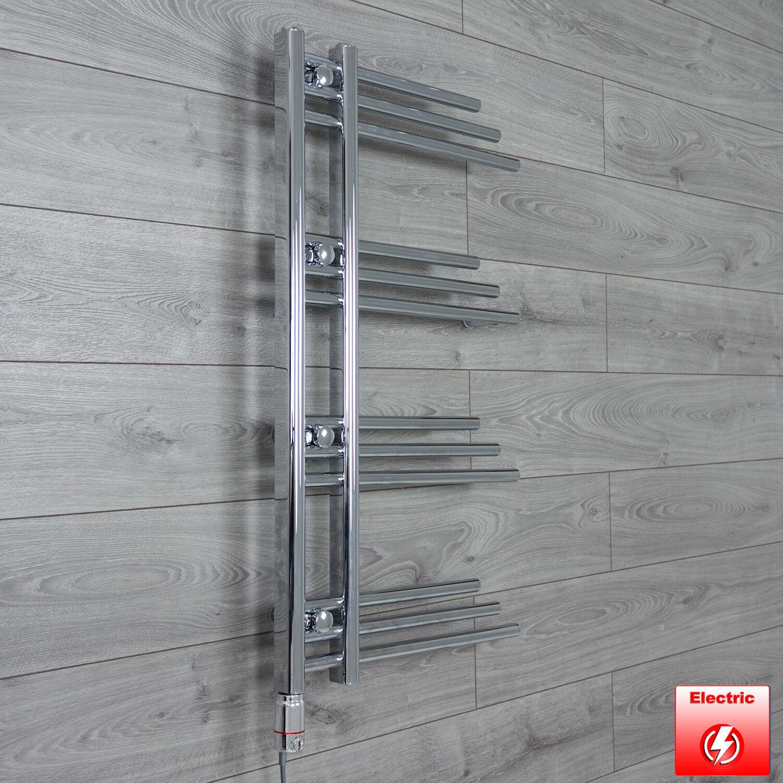 Chrome électrique Designer sèche-serviettes Radiateur largeur 500 mm Hauteur 900 mm rempli