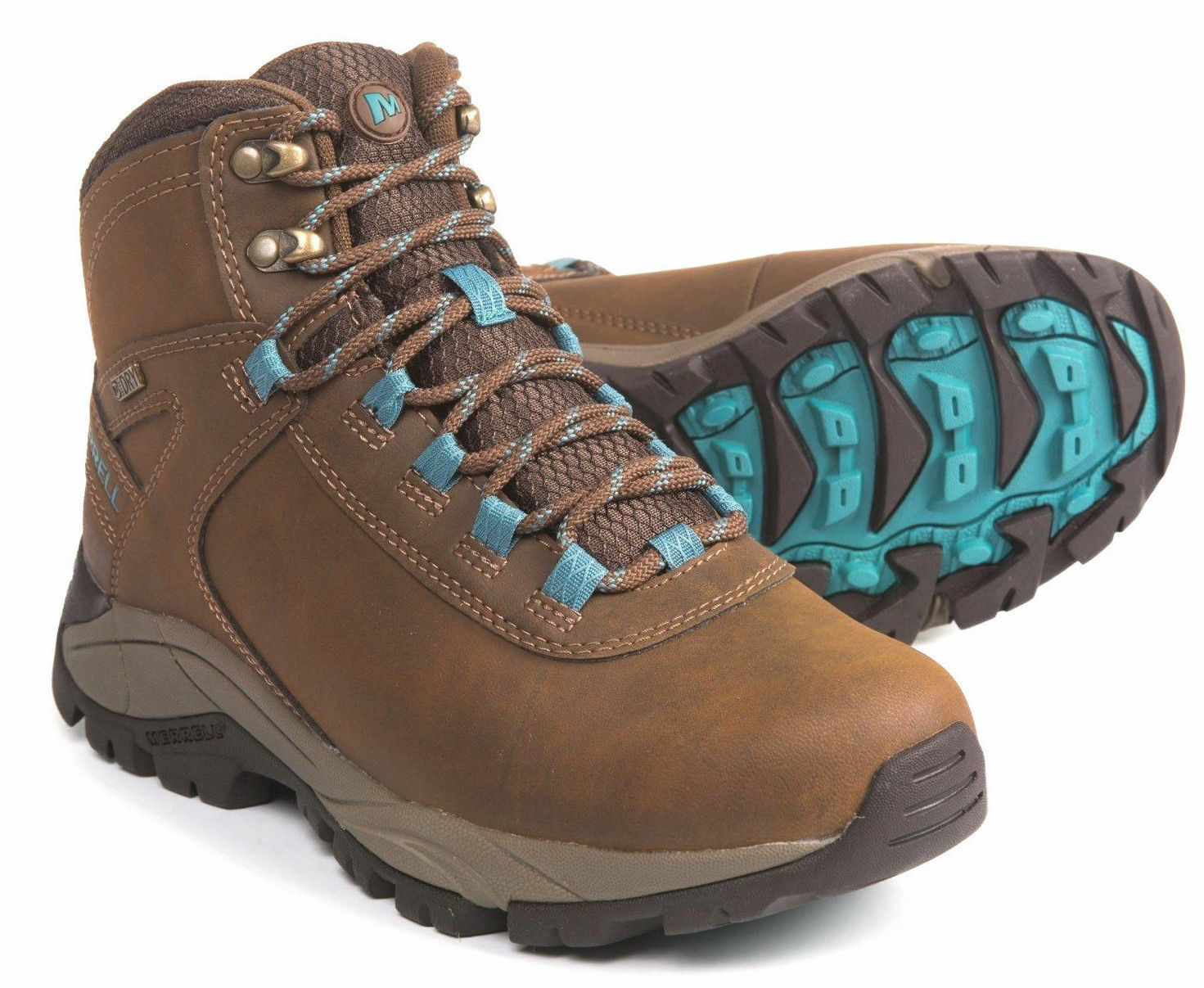 MERRELL M Select Waterproof Vego Mid women's Leather Hiking Trail boots