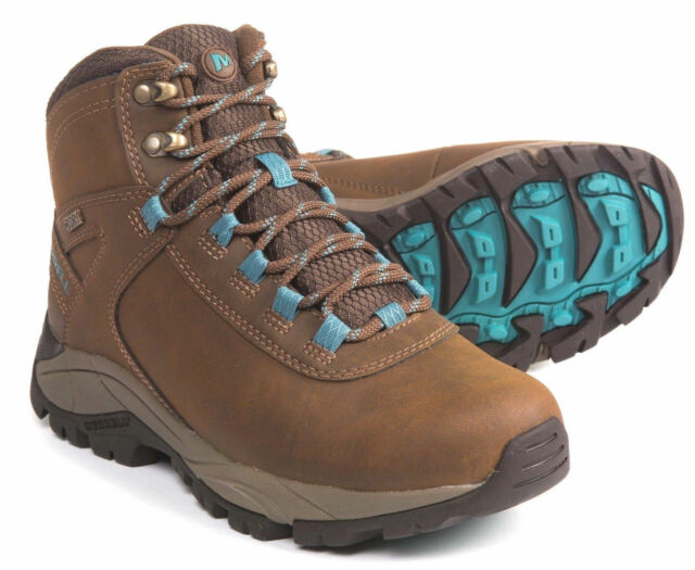 ad0ea9958763c MERRELL Waterproof Mid women's Leather Lace-up Hiking Outdoor Boots Winter  Shoes