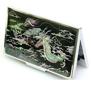 Business Card Case Holder ID Credit Card Case Mother of Pearl Made Korea C2002