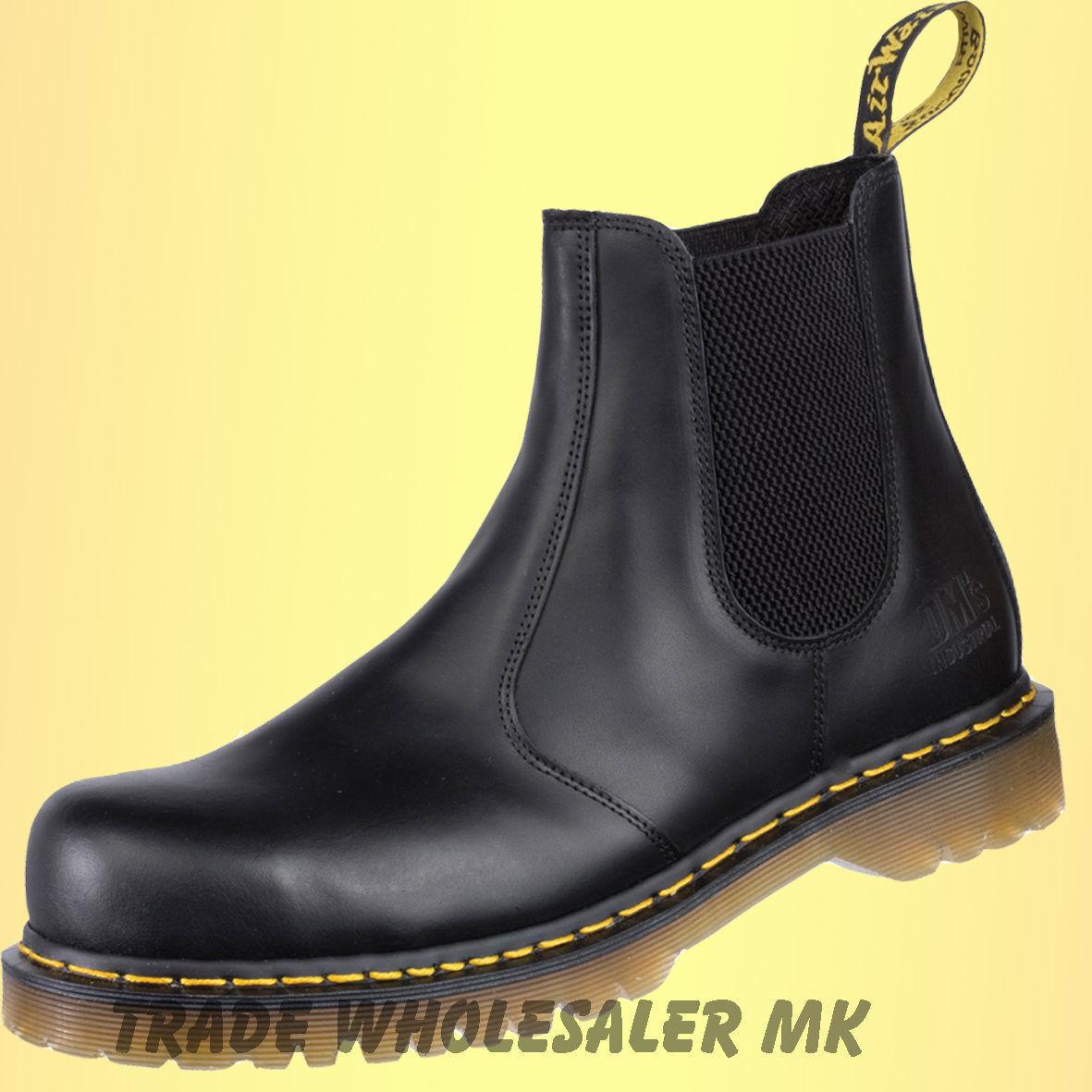 Dr. Martens iCON Gelb Stitch Dealer AirWair Steel Toe Cap Safety Stiefel Chelsea    | Das hochwertigste Material