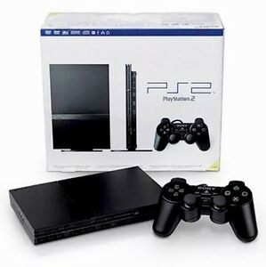 hookups and 4 Games Sony PS2 Playstation 2 bundle w controller