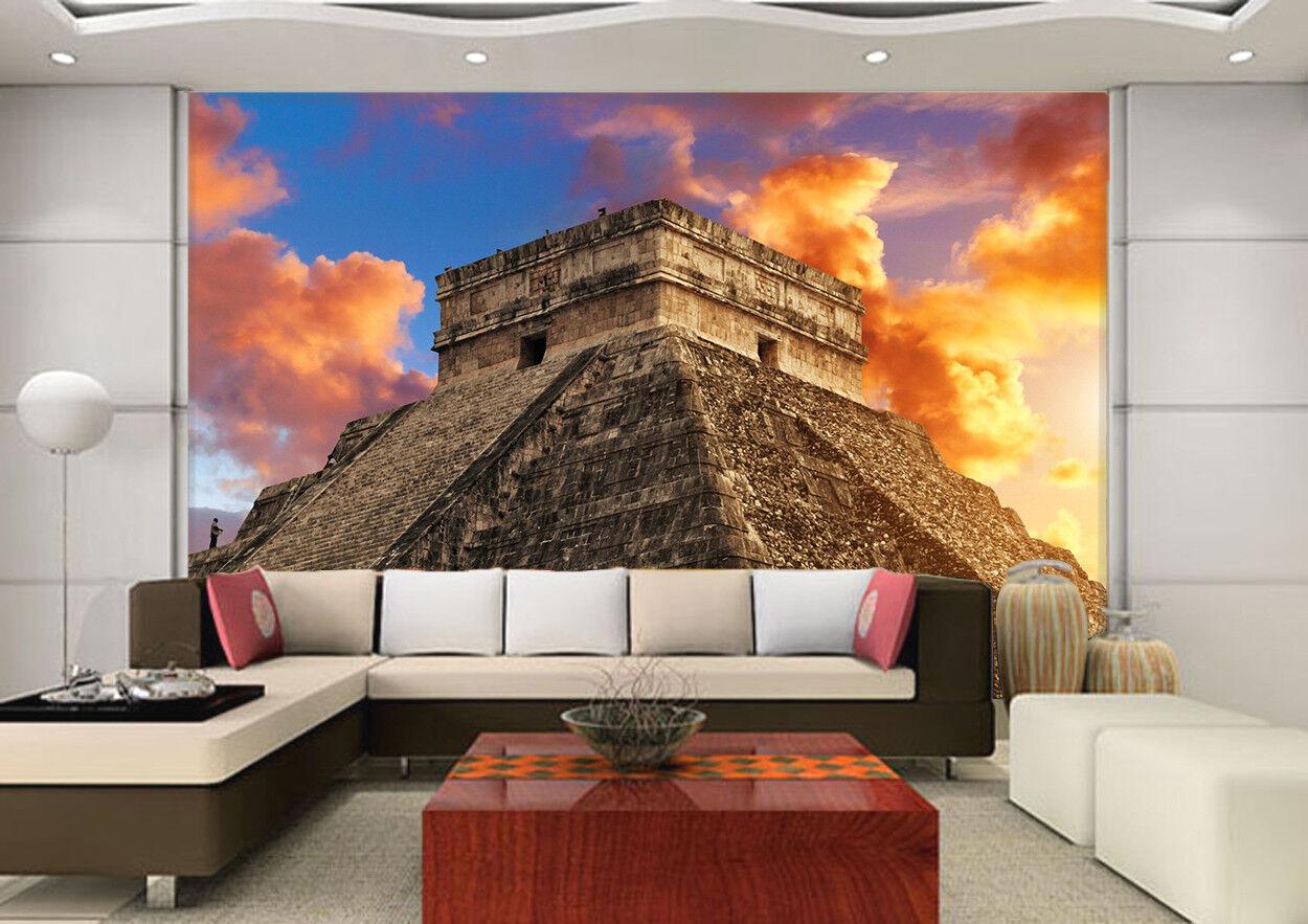 3D Mexican Pyramid 74 Wall Paper Murals Wall Print Wall Wallpaper Mural AU Kyra