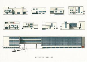 Postkarte: Dessau Bauhausgebäude Gropiushaus Meisterhaus